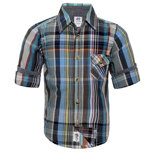 Toddler Boy 'Ayden'  Roll Up Shirt