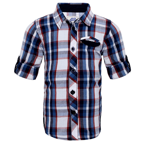 Toddler Boy 'Trevor'  Roll Up Shirt