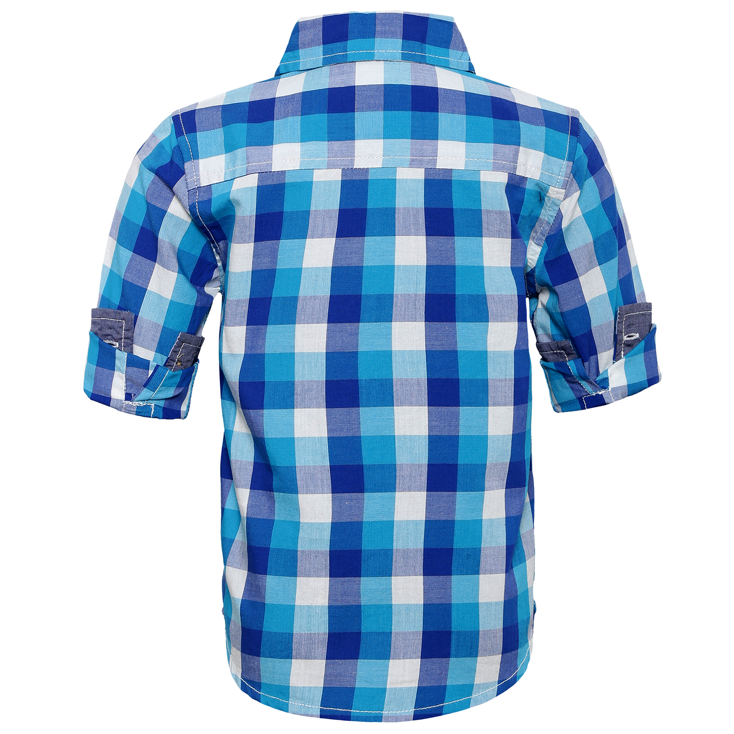 Toddler Boy 'Checkmate'  Roll Up Shirt