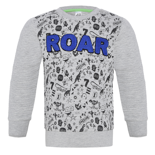 Toddler Boy 'Roar' Grey SweatShirt