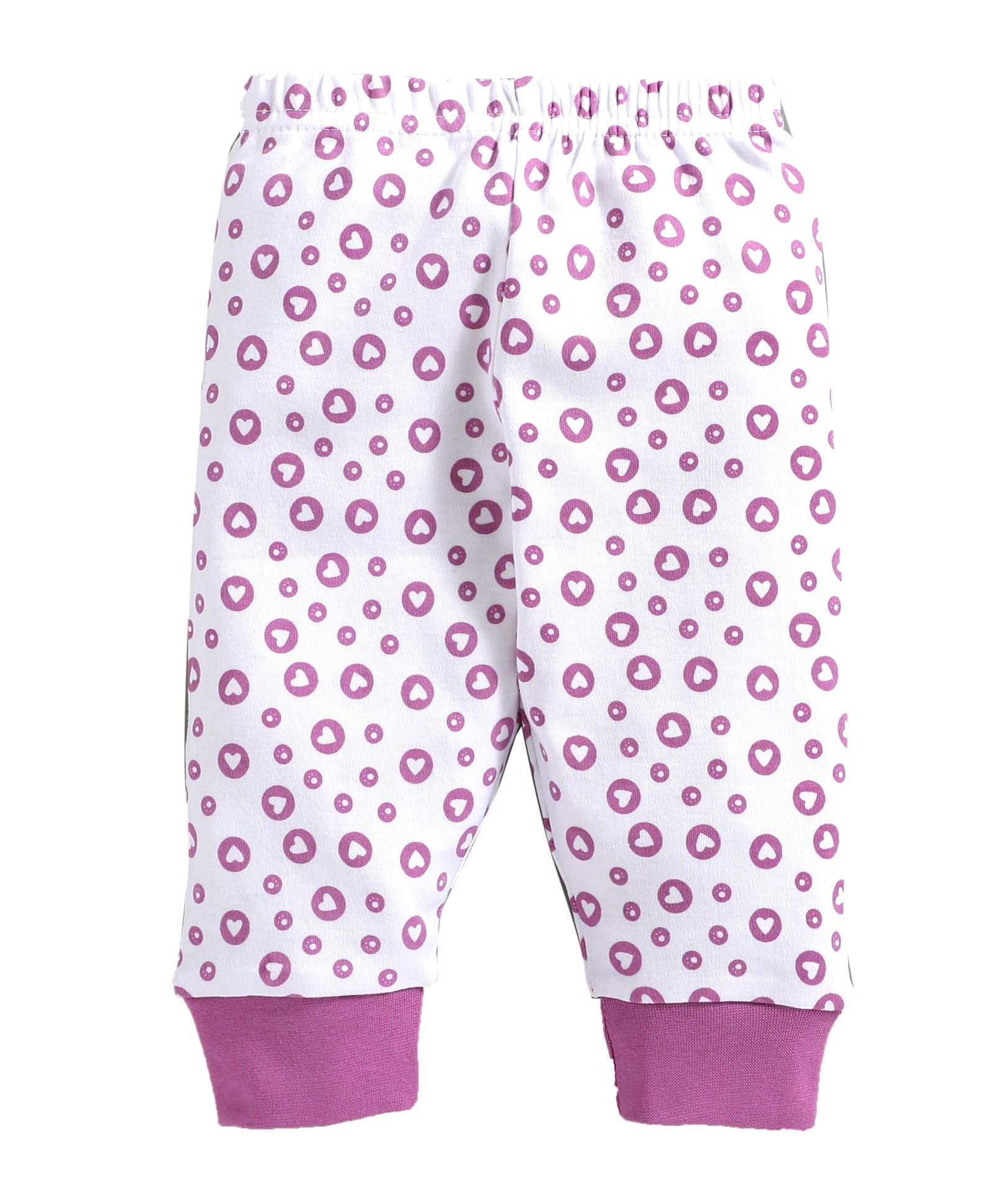 Baby Girl ' Heart ' Pink Pyjama Set