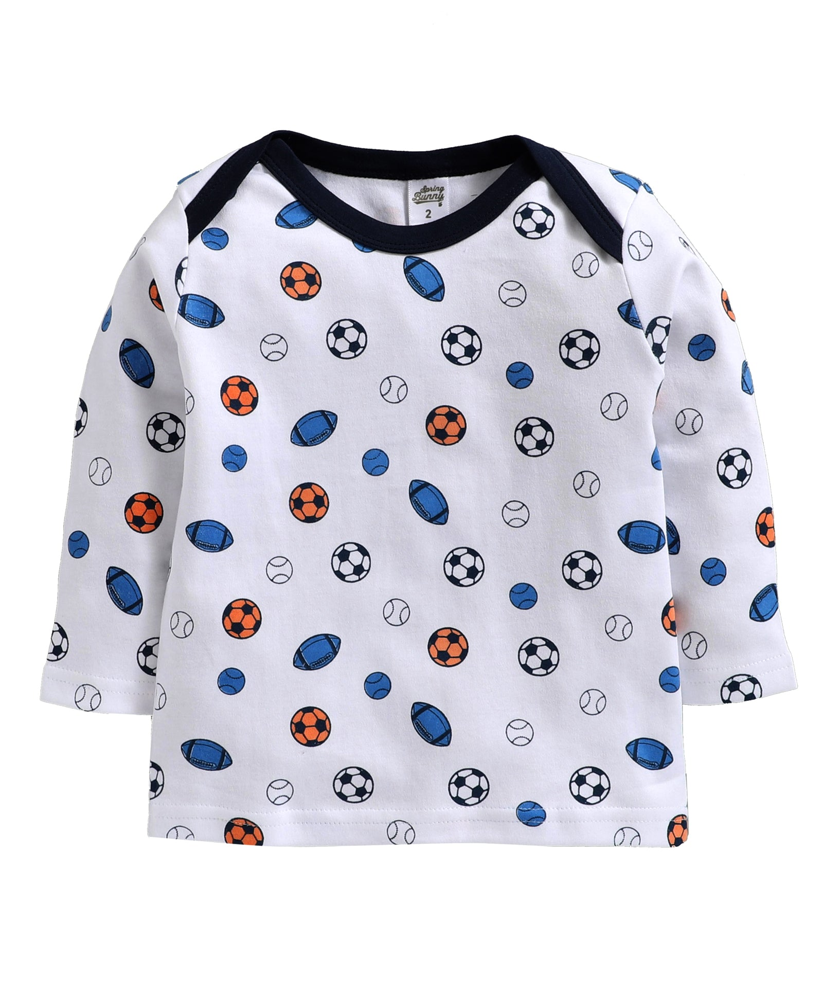 Toddler Boy ' Sports ' Multi color Pyjama Set