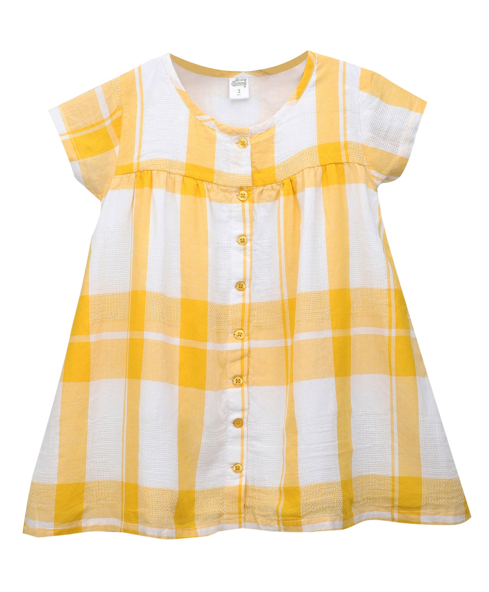 Toddler Girl ' Tahiti ' Yellow Honey Comb Dress
