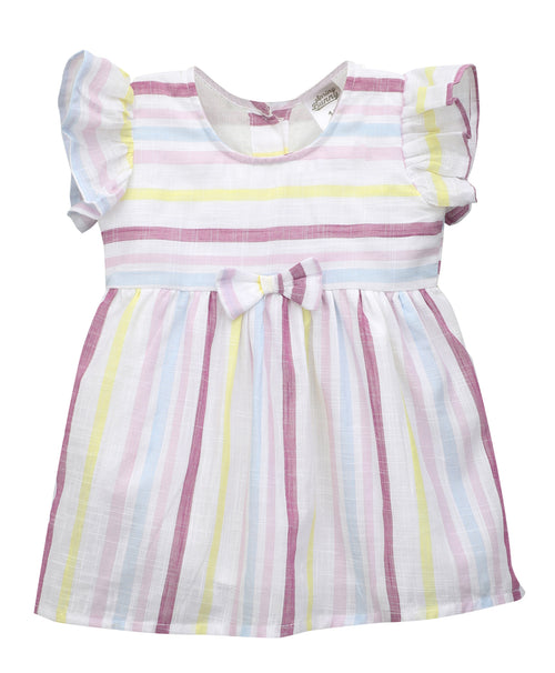 Baby Girl ' Candy ' Multi Stripe Dress