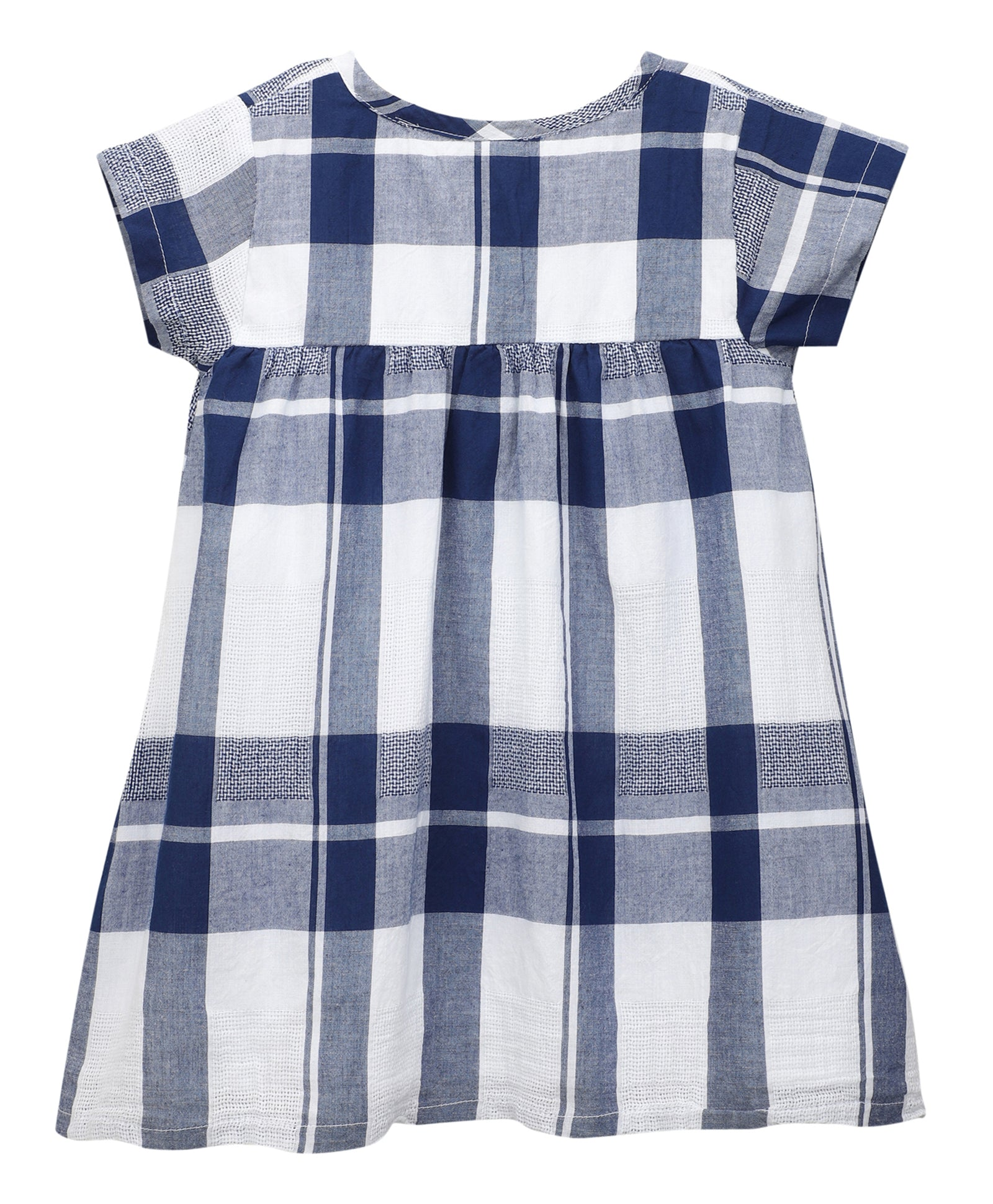 Toddler Girl ' Tahiti ' Blue Honey Comb Dress