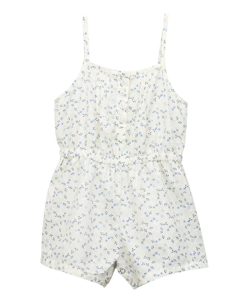 Baby Girl ' Jumper ' Off White Printed Romper