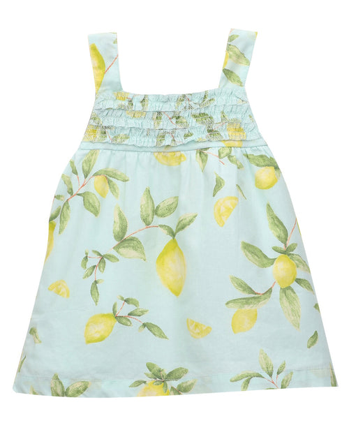 Baby Girl ' Lemon ' printed Dress