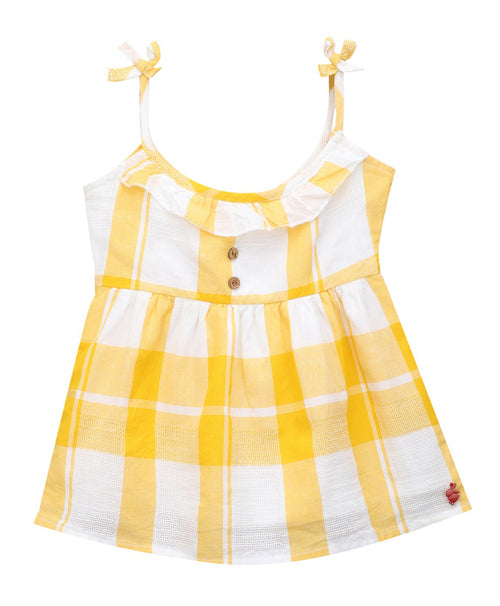 Baby Girl ' Seychelles ' Yellow HoneyComb Dress