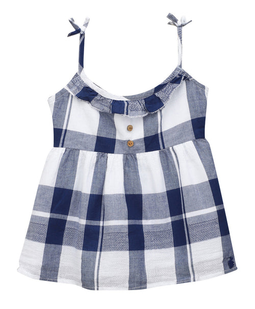 Baby Girl ' Seychelles ' Blue HoneyComb Dress
