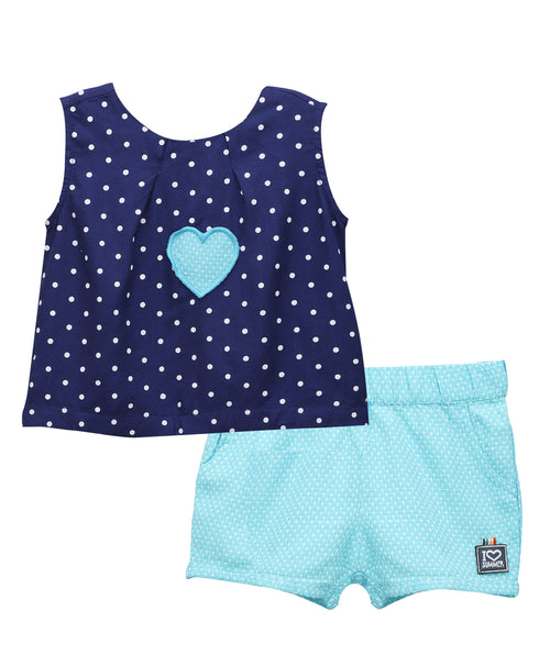 Baby Girl ' Waltz ' Shorts with Top Blue