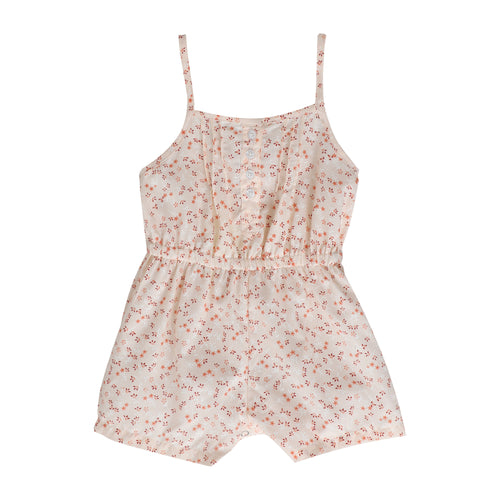Baby Girl ' Jumper ' Peach Printed Romper