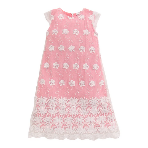 Toddler Girl 'Lacey' Lace Pink Dress