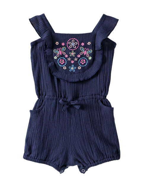 Baby Girl 'Naomi' Blue Jumpsuit