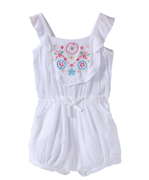 Baby Girl 'Naomi' White Jumpsuit
