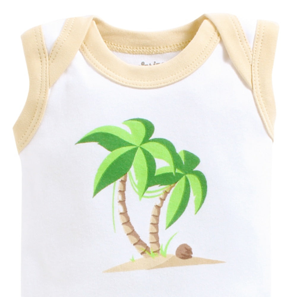 Baby Girl 'Palm Tree' Onesie Set of 3