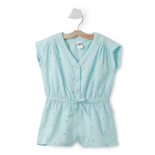 Toddler Girl ' Riti ' Blue  Jumpsuit