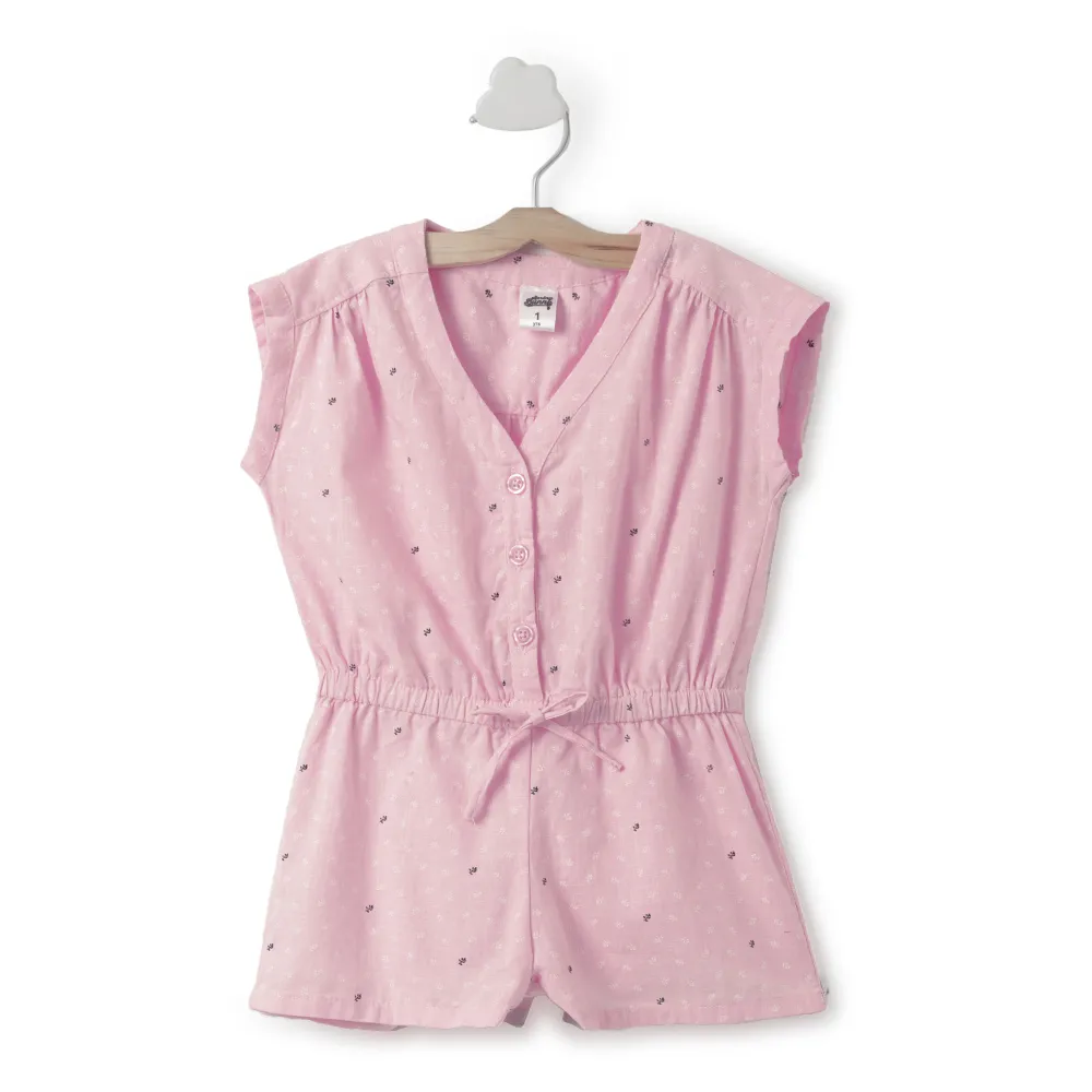 Toddler Girl ' Riti ' Pink  Jumpsuit