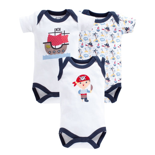 Baby Boy 'Sailor Boat' Onesie Set of 3