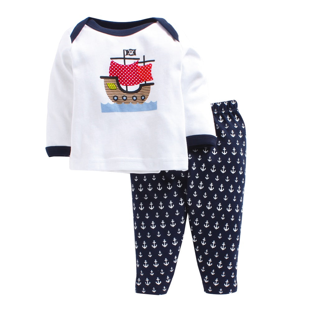 Baby Boy 'Sailor Boat' Pyjama Set