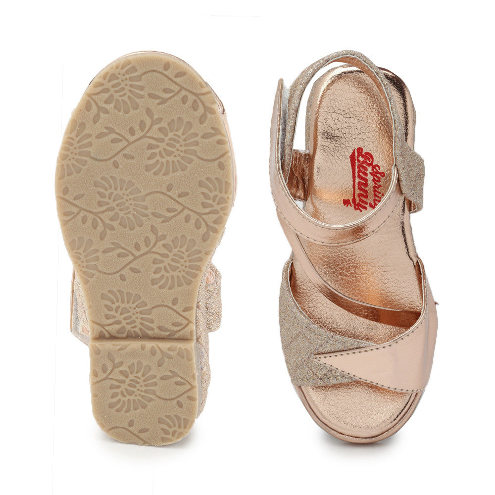 Toddler Girl 'Diva' Copper Sandal Shoes