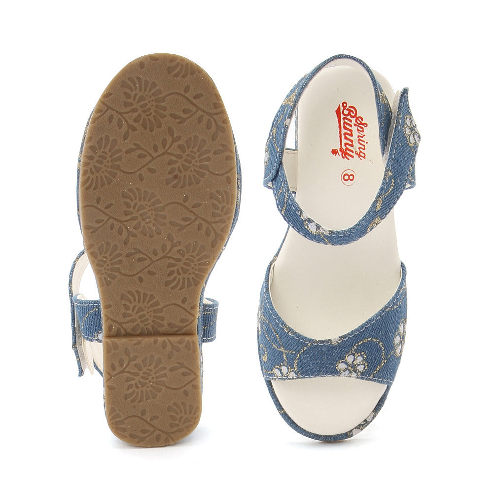 Toddler Girl 'Elisha' Denim Sandal Shoes