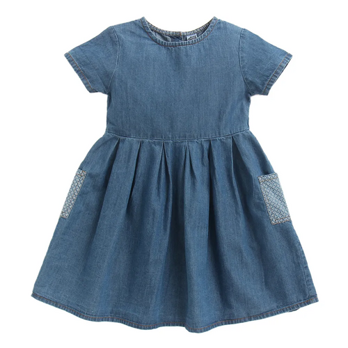 Toddler Girl 'Siena' Denim Dress