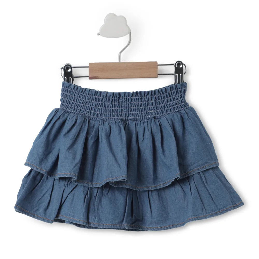 Toddler Girl ' Piper ' Denim Skirt with Top
