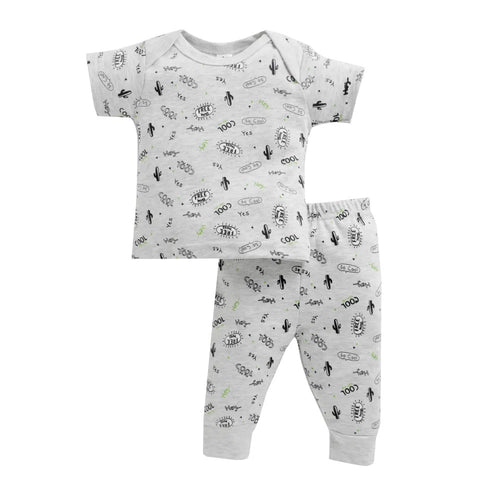 Baby Boy ' SoCool ' Grey Pyjama Set