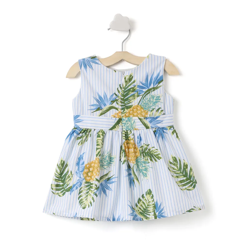 Baby Girl ' Summer Girl '  Striped Printed Dress