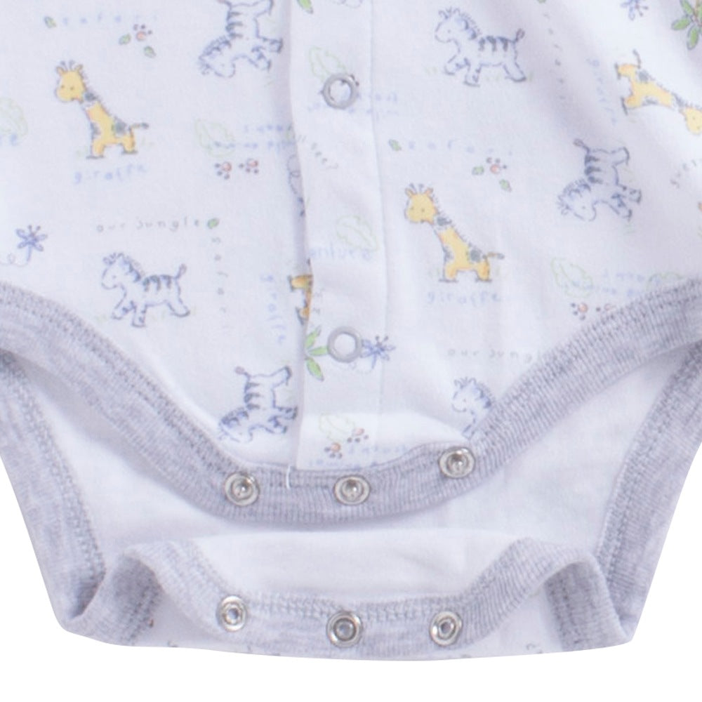Baby Boy 'Safari' Grey Romper Set