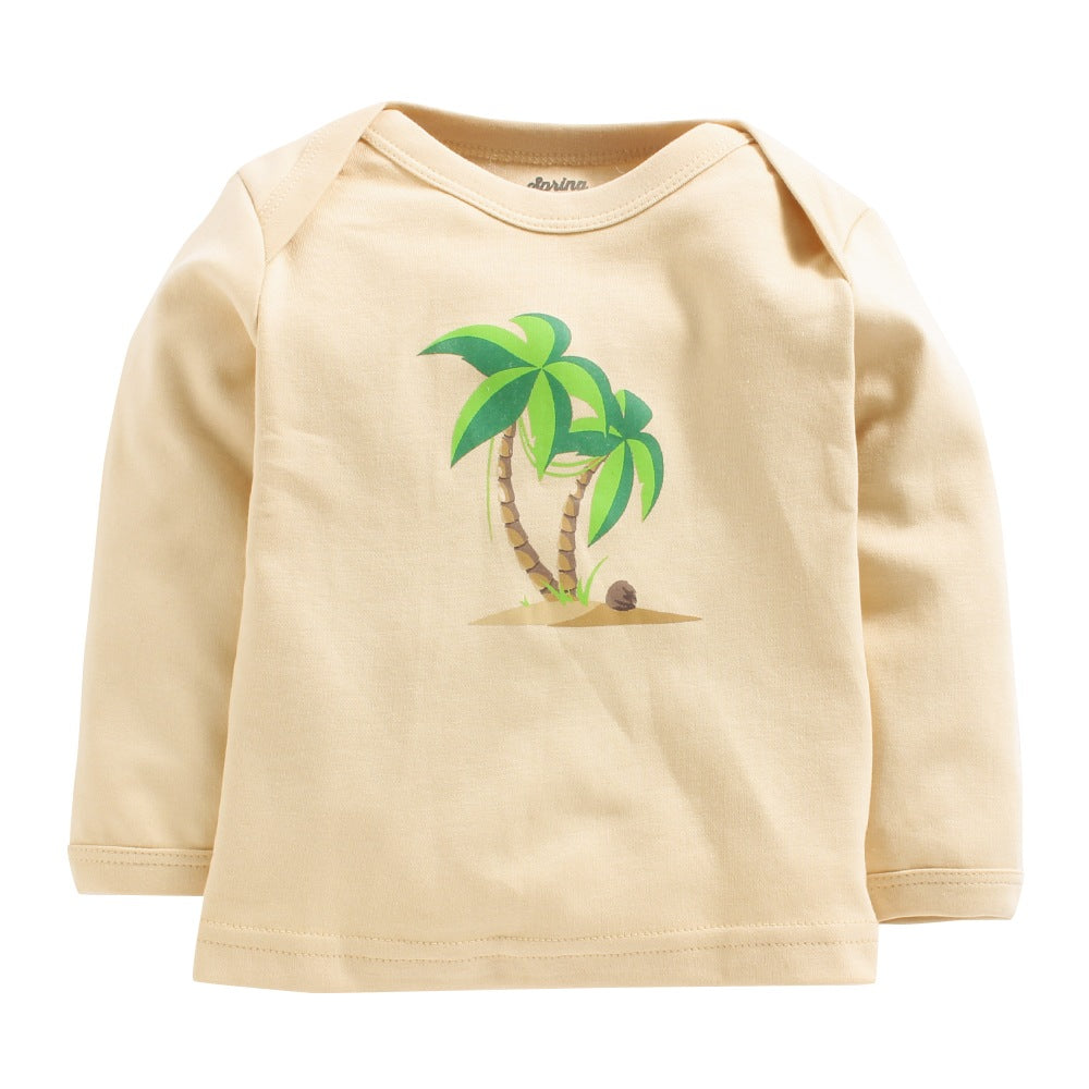 Baby Girl 'Palm Tree' Pyjama Set
