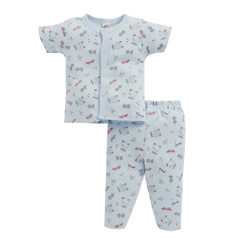 Baby Boy ' Tedd ' Blue Pyjama Set