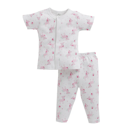 Baby Girl ' Unicorn ' Pink Pyjama Set