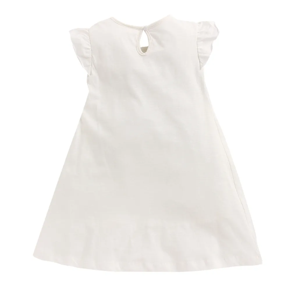 Toddler Girl 'Maria' White Dress