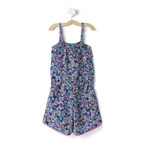 Girls 'Flower' Floral Printed Jumpsuit