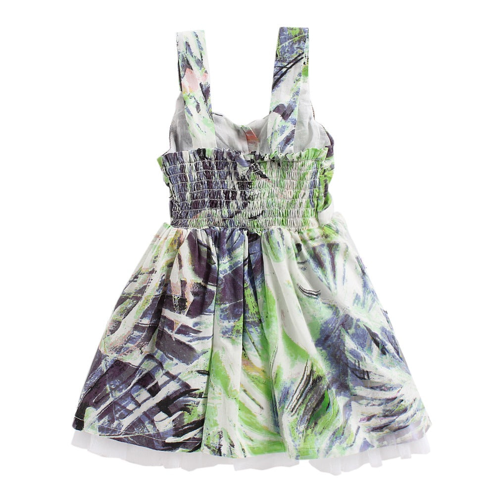 Baby Girl 'Foliage' Multi Color Dress
