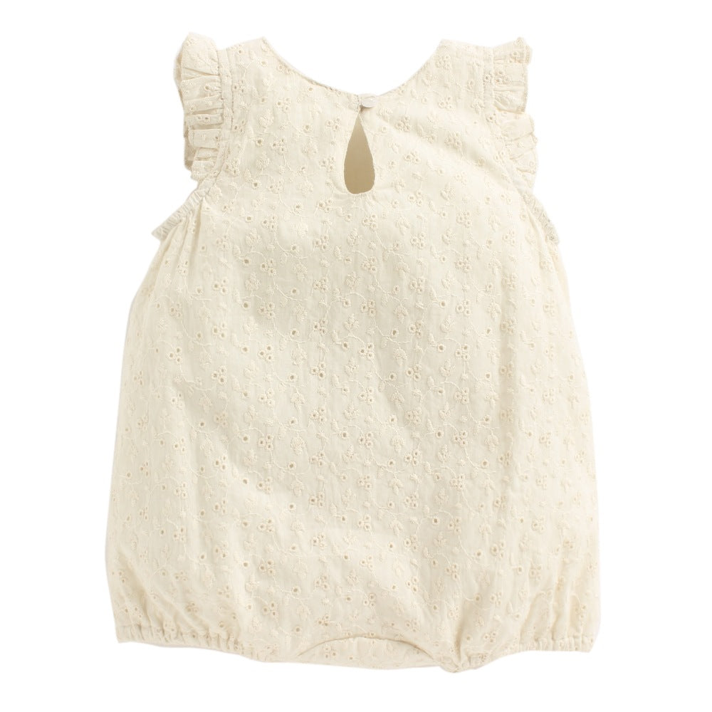 Baby Girl 'Flutter By' Off White Romper