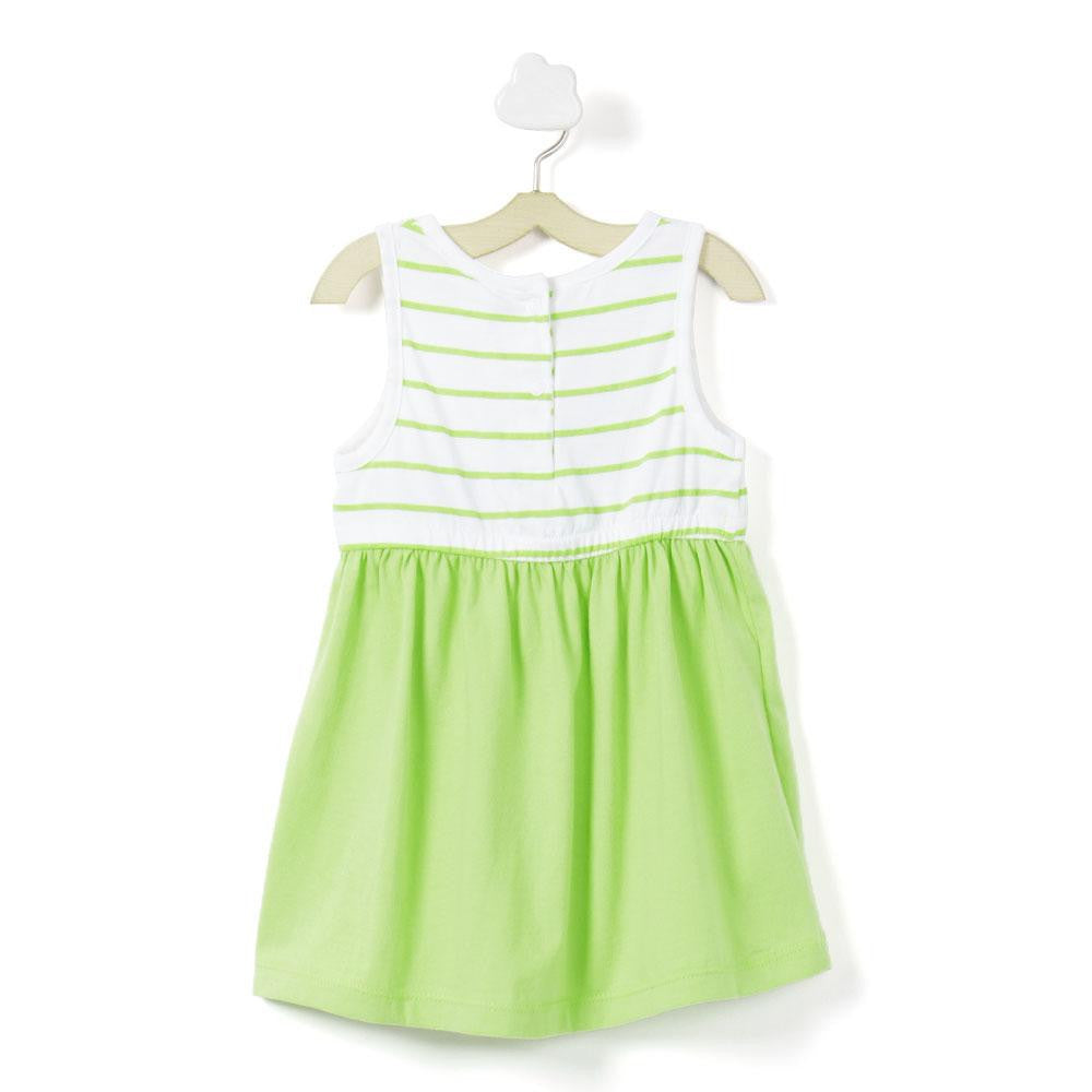 Baby Girl 'Green stripe' dress