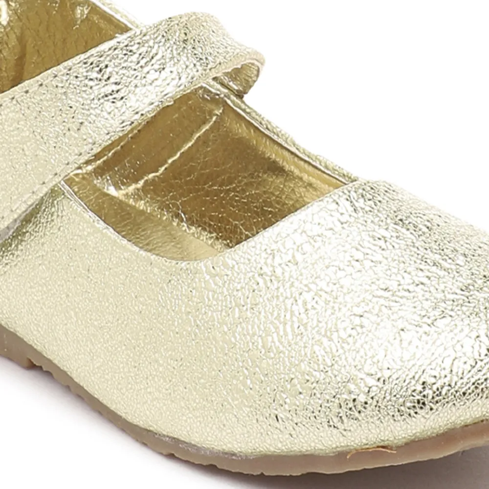 Toddler Girl 'Sparkle' Gold Mary Jane Shoes