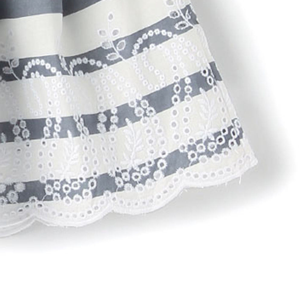 Girls 'Paisley' Cotton Stripe Skirt