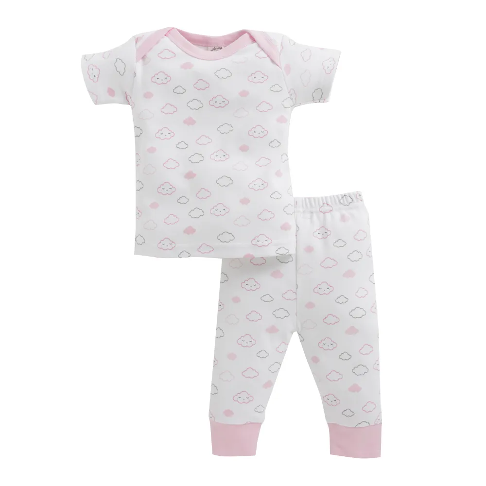 Baby Girl ' Cloud ' Pink Pyjama Set