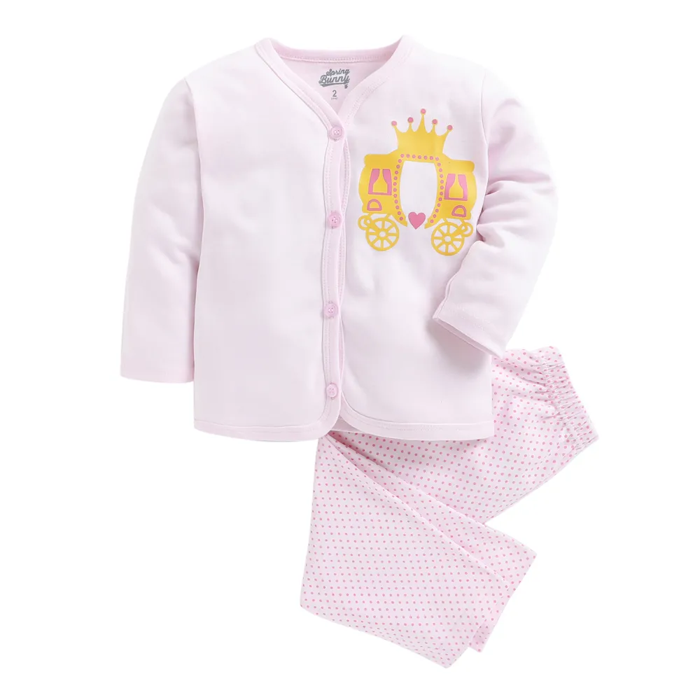 Toddler Girl 'Crown' Cotton Pyjama Set