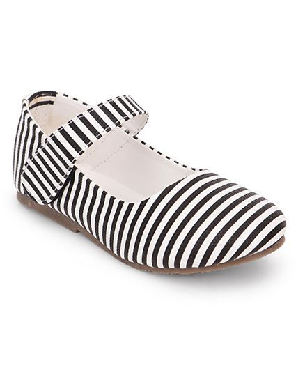 Toddler Girl 'Black & White' Mary Jane Shoes