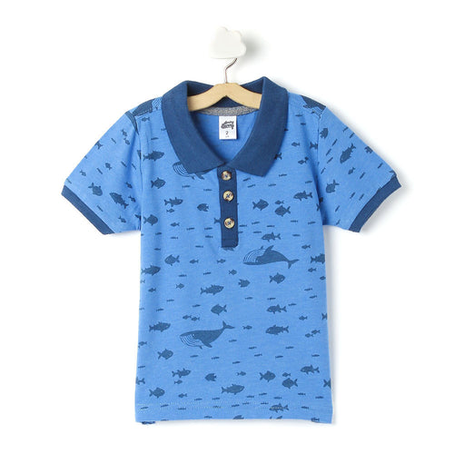 Toddler Boy 'Whale' Polo T-shirt