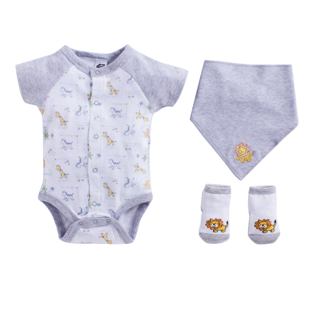 a8b63a883cce Baby Boy  Safari  Grey Romper Set – SpringBunny