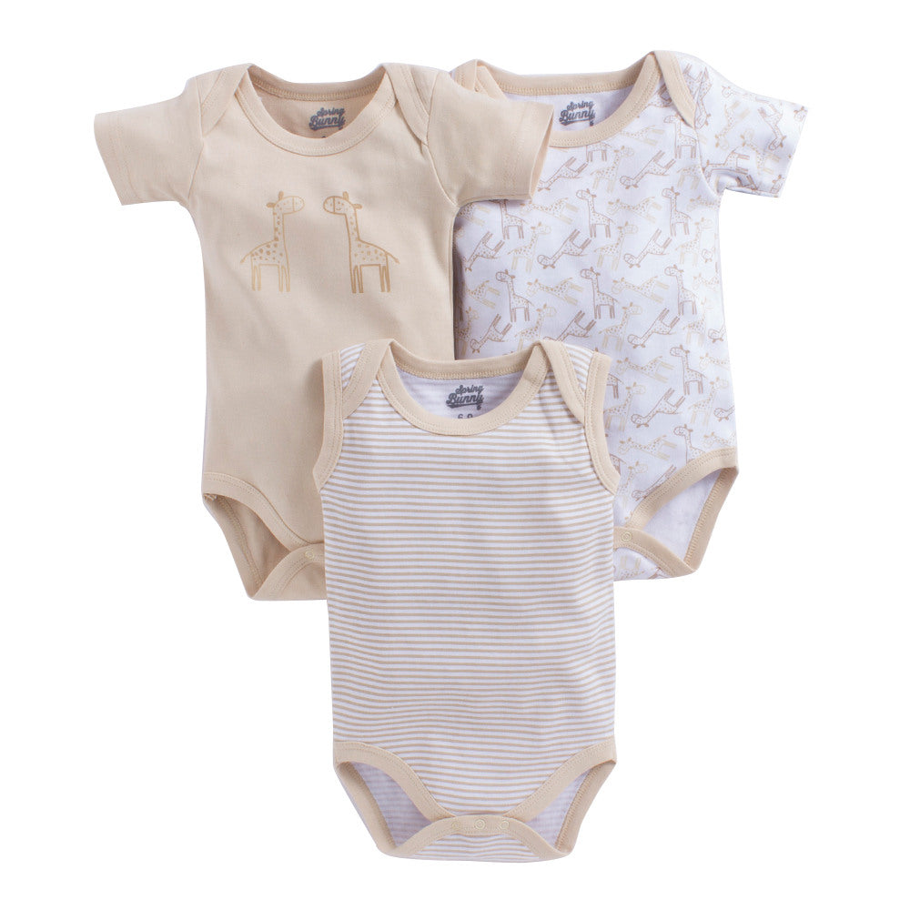Baby Boy 'Giraffe' Onesie Set of 3