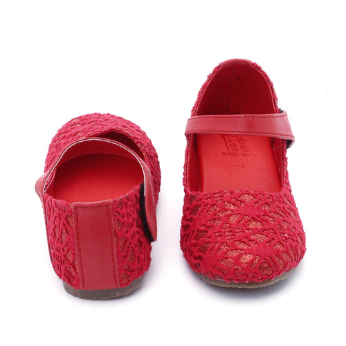 Toddler Girl Red 'Glam' Mary Jane Shoes