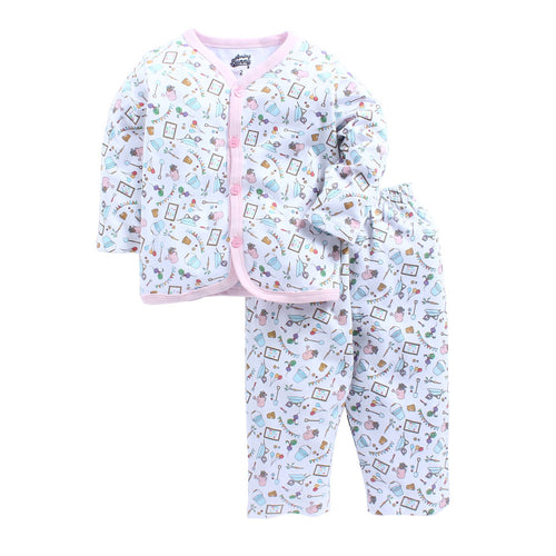 Toddler Girl 'Summer Garden' Cotton Pyjama Set