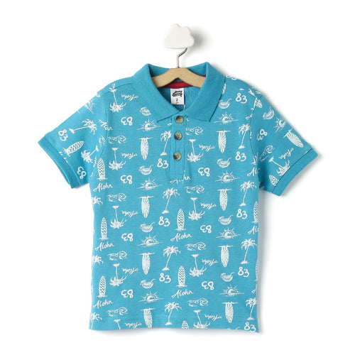 Toddler Boy 'Beach' Polo T-shirt