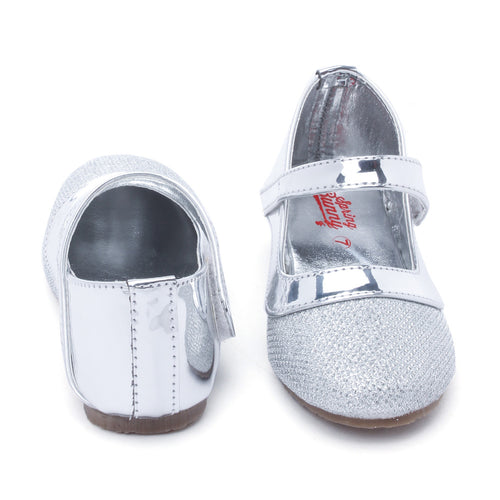 Toddler Girl Silver 'Dots great' Mary Jane Shoes
